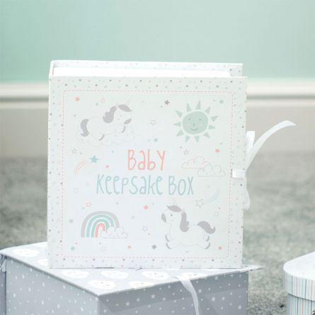 Eenhoorn herinneringsbox voor baby's