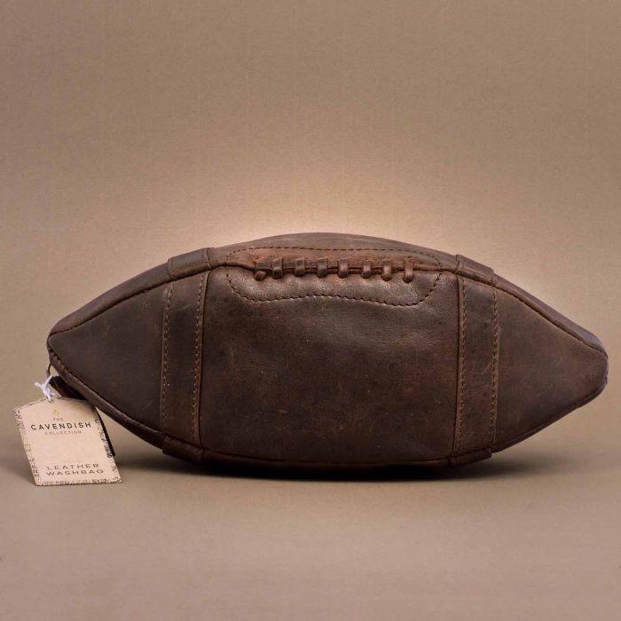 Lederen American Football tasje