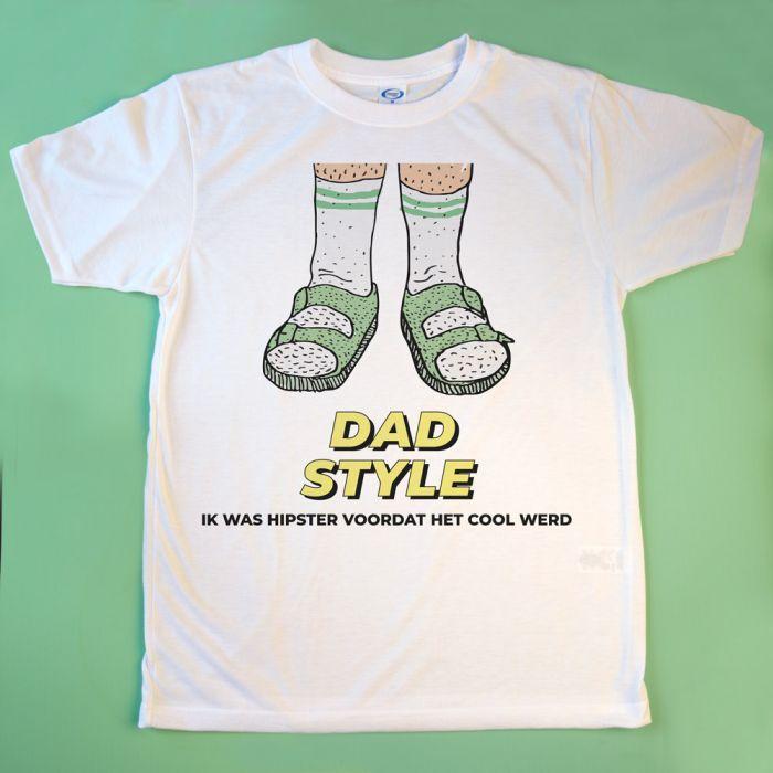 T-shirt sandalen met tekst