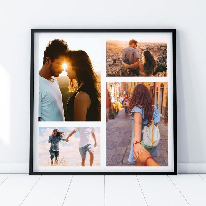 Personaliseerbare poster met 4 foto's