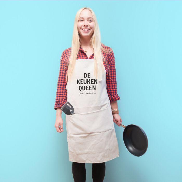 Personaliseerbaar keuken schort – de keuken rebel