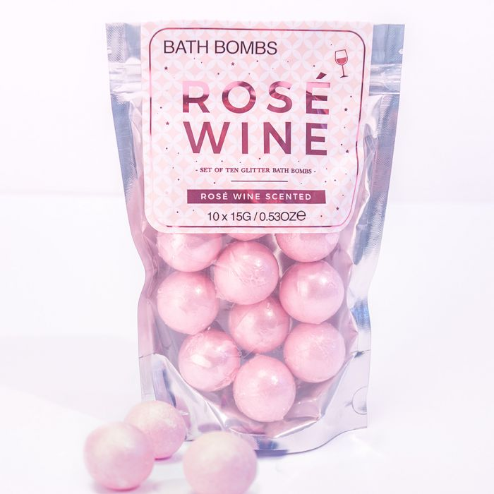 Rosé wijn badschuimpjes