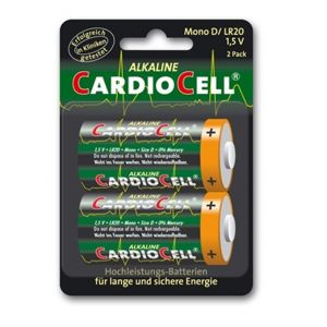 Cardiocell batterij Mono D-LR20 2-pak