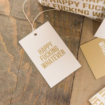 Grappige cadeaus - Onbeleefd cadeaupapier