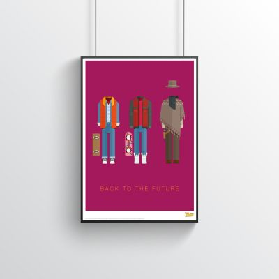 Poster - Back To The Future – Filmposter met outfits