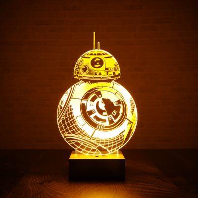 Film & Serie - Star Wars BB-8 Lamp met 3D Effect