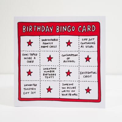 Verjaardagscadeau voor vriend - Birthday bingo wenskaart