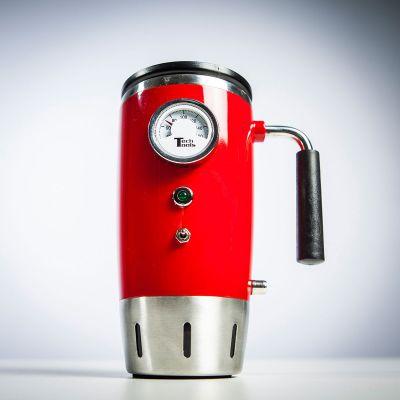 Retro kamer - Verwarmde retro drinkbeker met thermometer