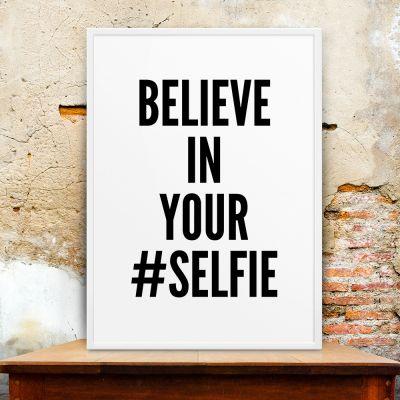 Poster - Selfie poster van MottosPrint