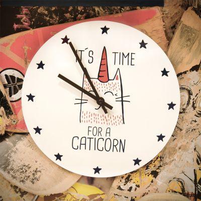 Exclusieve klokken - Caticorn wandklok