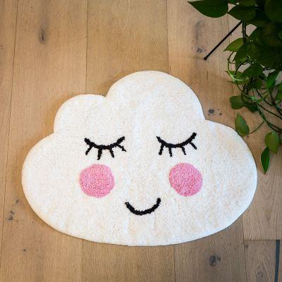 Cadeau voor zus - Wolk badkamer mat