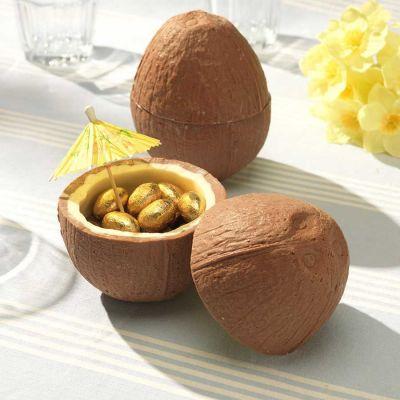 Cadeau voor broer - Chocolade kokosnoot met mini chocolade eieren