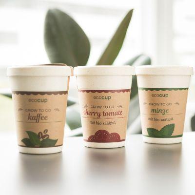 Keuken & barbeque - Ecocup – Planten in koffiebekers