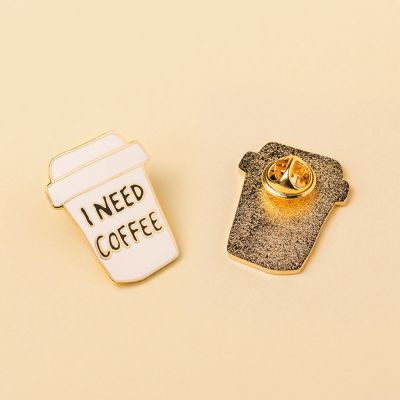 Toffe Accessoires - I Need Coffee pin