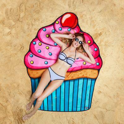 Cadeau voor zus - Cupcake strandlaken