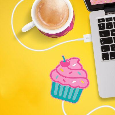 Cadeau voor zus - Cupcake USB-bekerverwarmer