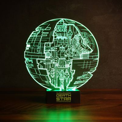 Cadeau voor vriend - Star Wars Death Start lamp met 3D effect