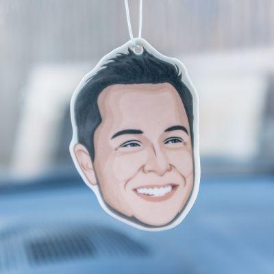 Cadeau voor haar - Elon Musk luchtverfrisser voor in de auto