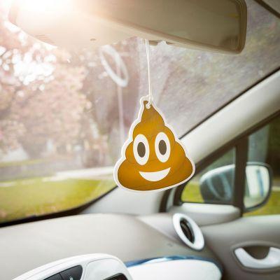 Cadeau voor zus - Emoji Poop - Luchtverfrisser voor de auto