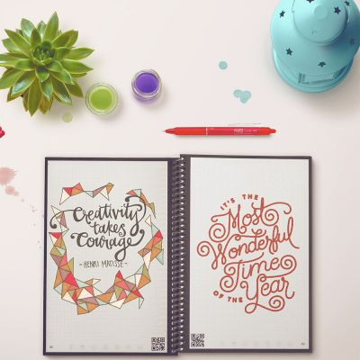 Cadeau voor haar - Herbruikbaar notitieboekje Everlast met smartphone app
