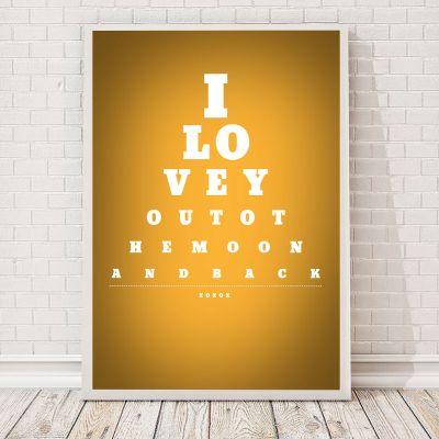 Moederdag cadeau - Oogtesttabel - personaliseerbare poster