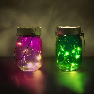 Huwelijksverjaardag cadeau - Set van 2 Fairy Jars