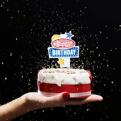 Retro kamer - Verjaardagslampjes in Vegas stijl