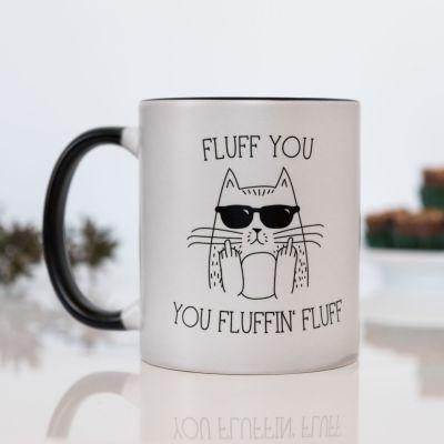 Verjaardagscadeaus voor 18 - Fluff you warmtegevoelige mok