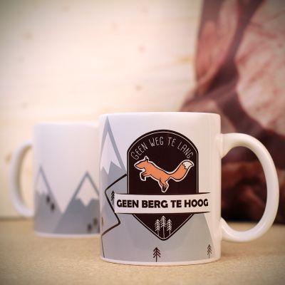 Verjaardagscadeau voor moeder - Personaliseerbare berg-vos mok