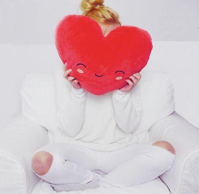 Huwelijkscadeau - Verwarmbaar hart-kussen