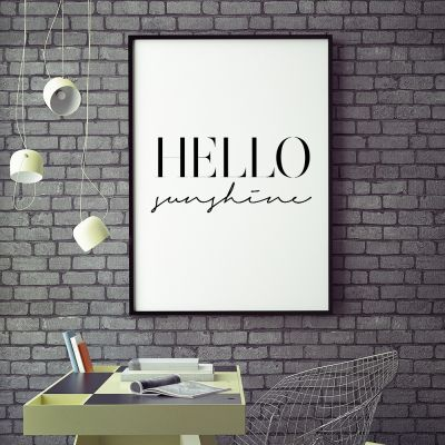 Poster - Hello Sunshine poster van MottosPrint
