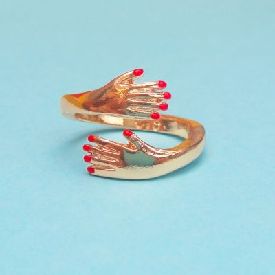 Toffe Accessoires - Omarmende ring van goud