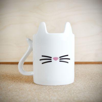 Kopjes & glazen - Beestige kat koffiemok