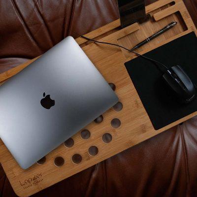 Verjaardagscadeau voor vriend - Laptop onderzetter van hout