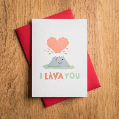 Verjaardagscadeau voor vriend - Valentijnskaart I Lava You