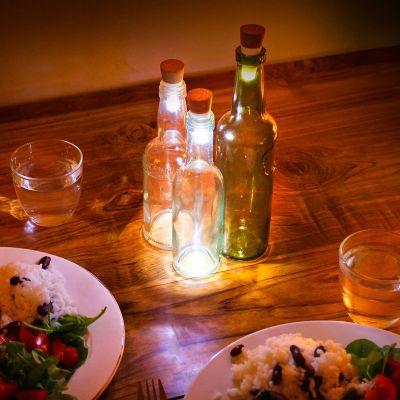 Huwelijksverjaardag cadeau - LED flessenlichten met USB