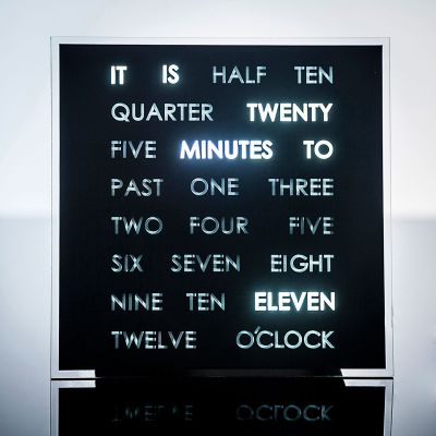 Housewarming cadeau - LED Word Clocks