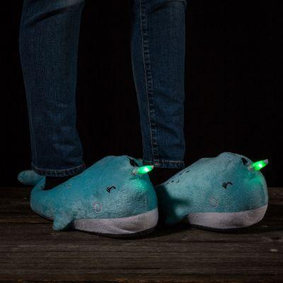 Kerstcadeau voor kinderen - Lichtgevende walvis pantoffels