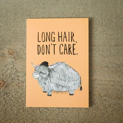 Kaarten - Long Hair wenskaart