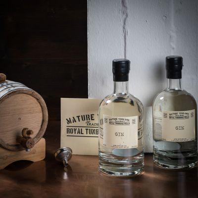 Verjaardagscadeau voor vader - Zelf gin laten rijpen – set met eiken vat