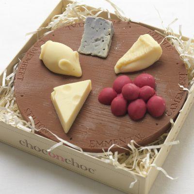 Verjaardagscadeau voor moeder - Kaasplank van chocolade