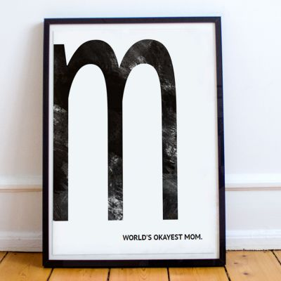 Cadeau voor ouders - Monogram - personaliseerbare poster