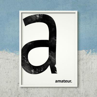 Cadeau voor haar - Monogram - personaliseerbare poster