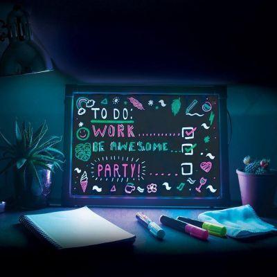 Decoratie - Schrijfbord met neon-effect