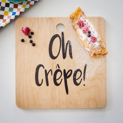 Housewarming cadeau - Oh Crêpe snijplank