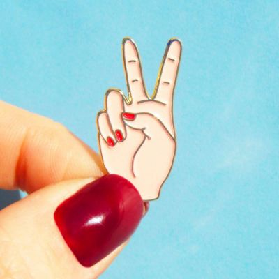 Toffe Accessoires - Peace pin