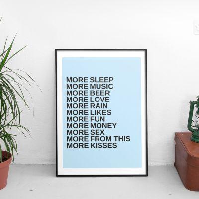 Verjaardagscadeau voor vriend - More - Personaliseerbare poster