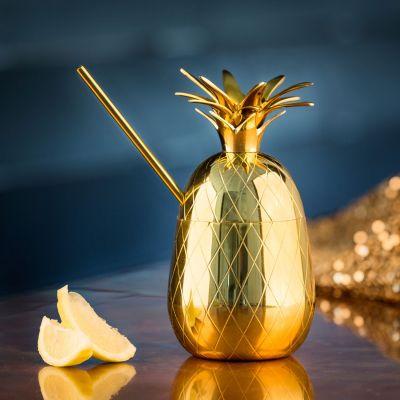 Kopjes & glazen - Ananas cocktailglas van metaal
