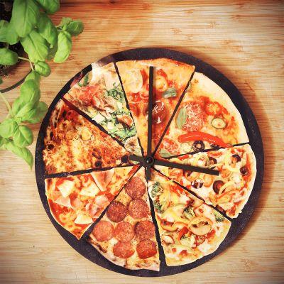 Klokken - Pizza wandklok