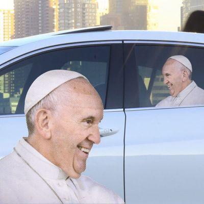 Cadeau voor hem - Paus autosticker